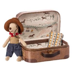 """Maileg Kleiner Bruder Maus """"Cowboy im Koffer"""""""