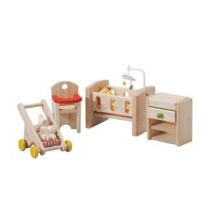 PlanToys Baby Schlafzimmer Puppenhausmöbel-Set