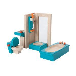 PlanToys Badezimmer Neo Puppenhausmöbel-Set