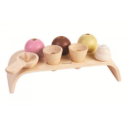 PlanToys Eiscreme-Set aus Holz 2