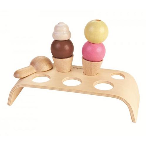PlanToys Eiscreme-Set aus Holz 3