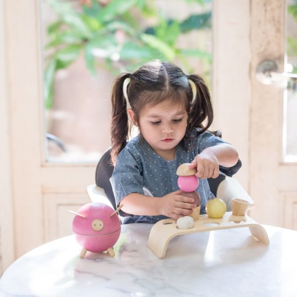 PlanToys Eiscreme-Set aus Holz mit Mädchen