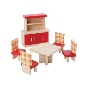 PlanToys Esszimmer Neo Puppenhausmöbel-Set