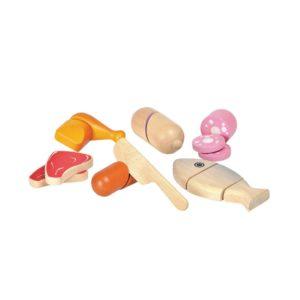 PlanToys Fleisch- & Wurstset aus Holz