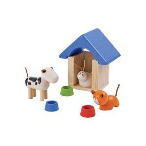 PlanToys Haustiere und Zubehör für Puppenhaus
