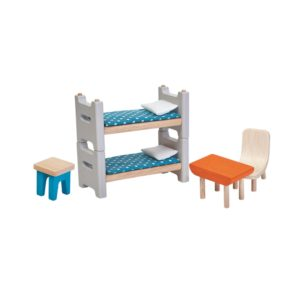 PlanToys Kinderzimmer Puppenhausmöbel-Set