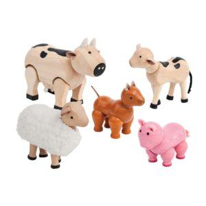PlanToys Nutztiere für Puppenhaus