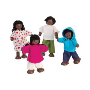 PlanToys Puppenfamilie Afrika, Puppenhauspuppen