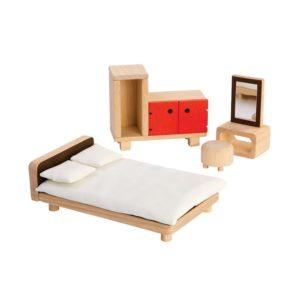 PlanToys Schlafzimmer Puppenhausmöbel-Set
