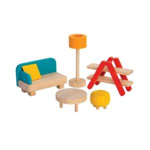 PlanToys Wohnzimmer Puppenhausmöbel-Set