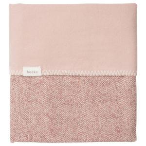 koeka Babydecke Vigo Fannel old pink : shadow pink, 70x100cm
