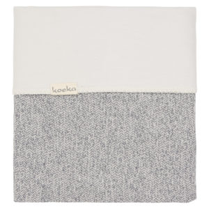 koeka Babydecke Vigo Fannel sparkle grey : pebble, 70x100cm