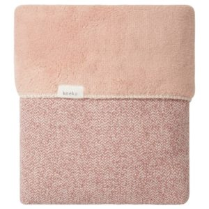 koeka Babydecke Vigo Teddy old pink : shadow pink, 70x100cm