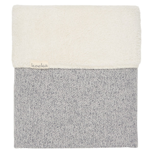 koeka Babydecke Vigo Teddy sparkle grey : pebble, 70x100cm
