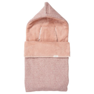 koeka Fußsack Vigo Teddy old pink : shadow pink
