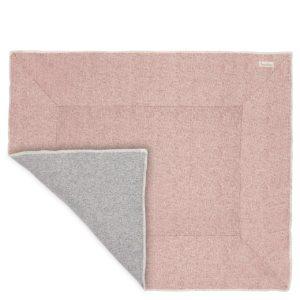 koeka Krabbeldecke Vigo old pink : sparkle grey Rückseite