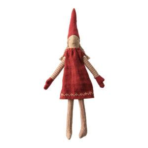 Maileg Kletter Wichtel mit rotem Kleid