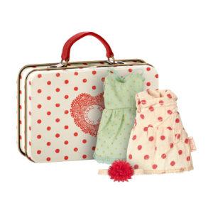 Maileg Maus Koffer mit 2 Kleidungs-Set, Micro
