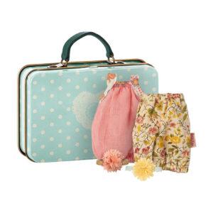 Maileg Micro & Maus Koffer mit 2 Kleidungs-Set