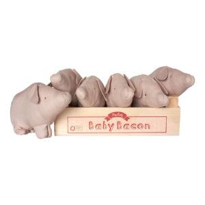 Maileg Schwein, Baby Bacon Box-Set mit 6 Ferkeln