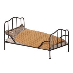 """Maileg Vintage Bett """"Anthrazit"""" Mini"""