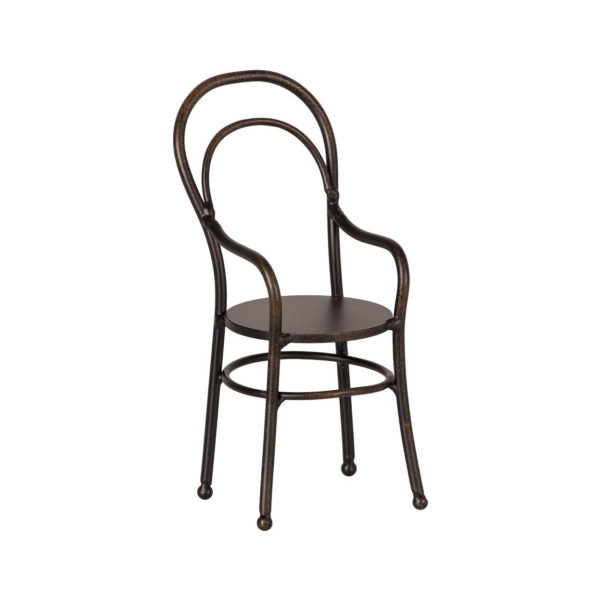 "Maileg Vintage Stuhl mit Armlehne ""Anthrazit"" Mini"