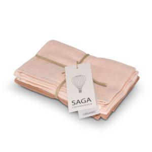 Saga Copenhagen Musselin-Waschlappen Birta, Pale Pink