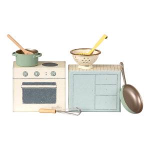 Maileg Koch-Set, Küche für Mäuse