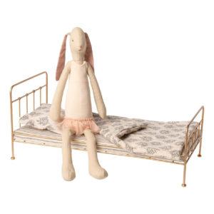 Maileg Set Hase Ballerina mit goldenem Bett (L45cm)