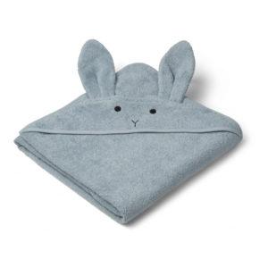"Liewood Kapuzenhandtuch Augusta Rabbit ""sea blue"""