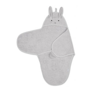 "Liewood Nomi Swaddle ""Rabbit dumbo grey"""