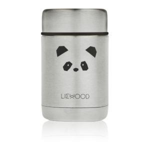 "Liewood Nadja Thermobehälter ""Panda stainless steel"""