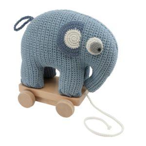 Sebra Häkel-Nachziehtier, Fanto der Elefant powder blue 1