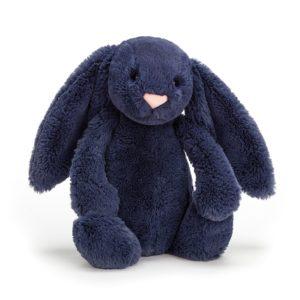 Jellycat Kuscheltier Bashful Navy Bunny 31 cm (medium)