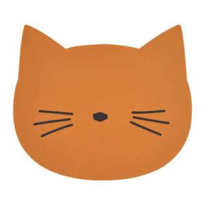 "Liewood Aura Silikon-Tischset ""Cat mustard"""