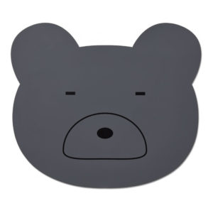 "Liewood Aura Silikon-Tischset ""Mr Bear stone grey"""
