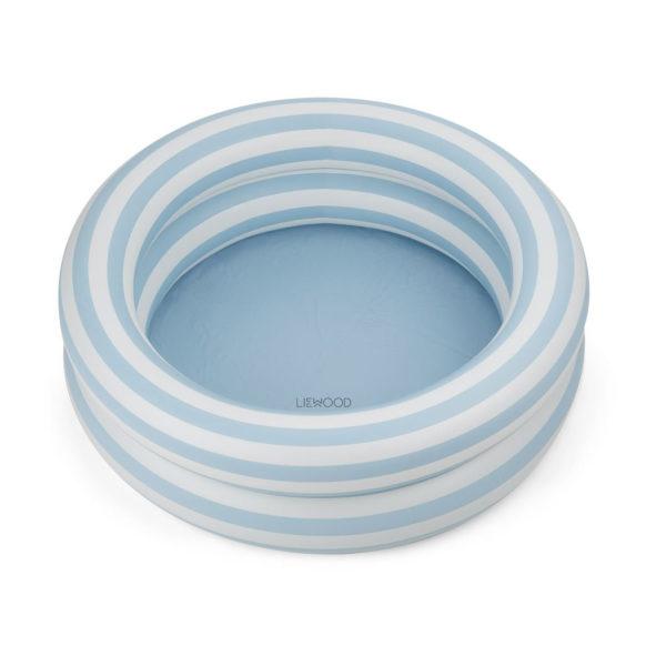 "Liewood Leonore Planschbecken : Pool ""Stripe- Sea blue : creme"""
