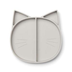 "Liewood Maddox Silikon Menüteller ""Cat dumbo grey"""