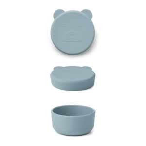 "Liewood Carrie Snackbox Mr Bear ""sea blue"", klein"