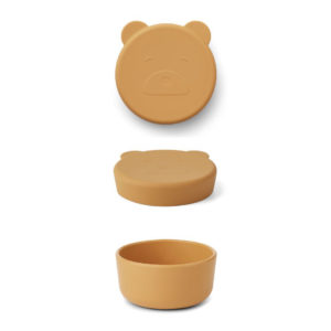 "Liewood Carrie Snackbox Mr Bear ""yellow mellow"", klein"