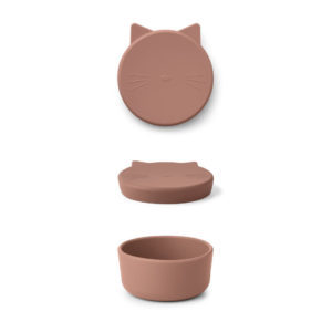 "Liewood Cornelius Snackbox Cat ""dark rose"", mittel"