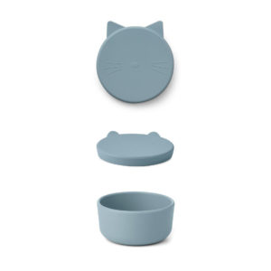 "Liewood Cornelius Snackbox Cat ""sea blue"", mittel"