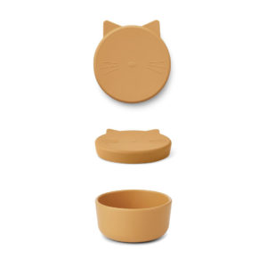 "Liewood Cornelius Snackbox Cat ""yellow mellow"", mittel"