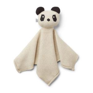 """Liewood Milo Schmusetuch """"Panda beige beauty"""", gestrickt"""