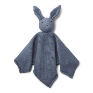 """Liewood Milo Schmusetuch """"Rabbit blue wave"""", gestrickt"""