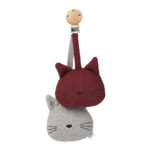 """Liewood Rosa Kinderwagen Spielzeug """"Cat grey melange"""""""