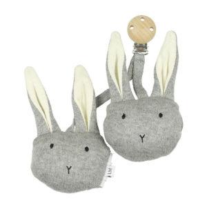 """Liewood Rosa Kinderwagen Spielzeug """"Rabbit grey melange"""""""