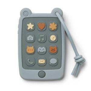 """Liewood Thomas Spieltelefon aus Silikon """"Sea blue"""""""