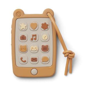 """Liewood Thomas Spieltelefon aus Silikon """"Yellow mellow"""""""