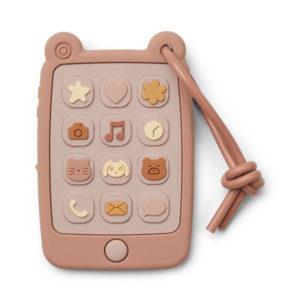 Liewood Thomas Spieltelefon aus Silikon, rose